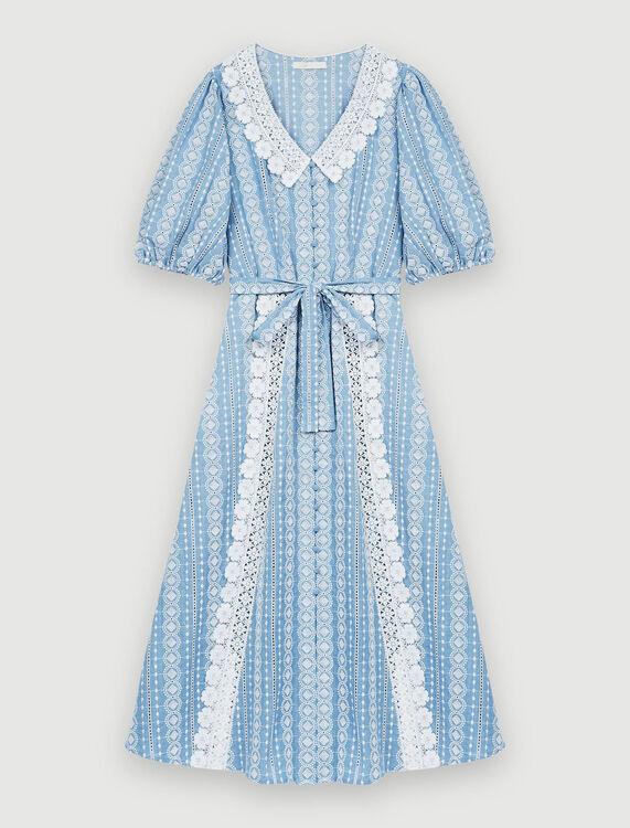 Dress with contrasting trims - Dresses - MAJE