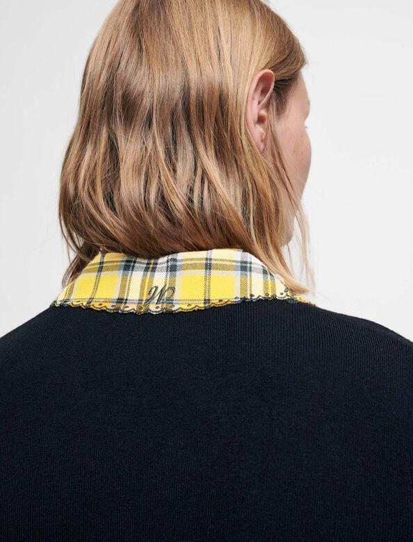 学院风拼接格纹连衣裙 : Dresses 顏色 黄色/YELLOW
