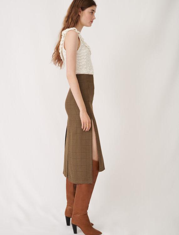 英伦风不对称半身裙 : 半身裙及短裤 顏色 棕色/BROWN