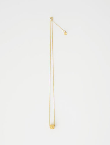 Number 1 dice necklace : Jewelry color Gold