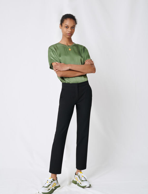 Stretch twill tailored trousers - Trousers - MAJE