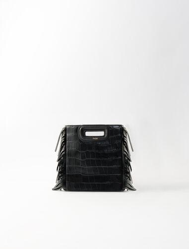 鳄鱼皮纹迷你手提包 : M Mini 顏色 黑色/BLACK