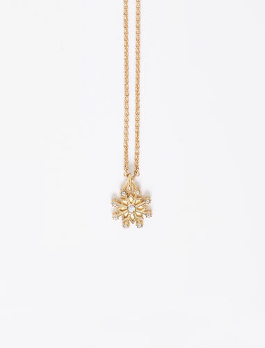 Snowflake pendant with chain : Jewelry color Gold