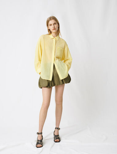 Sorbet yellow airy shirt : Shirts color Blue