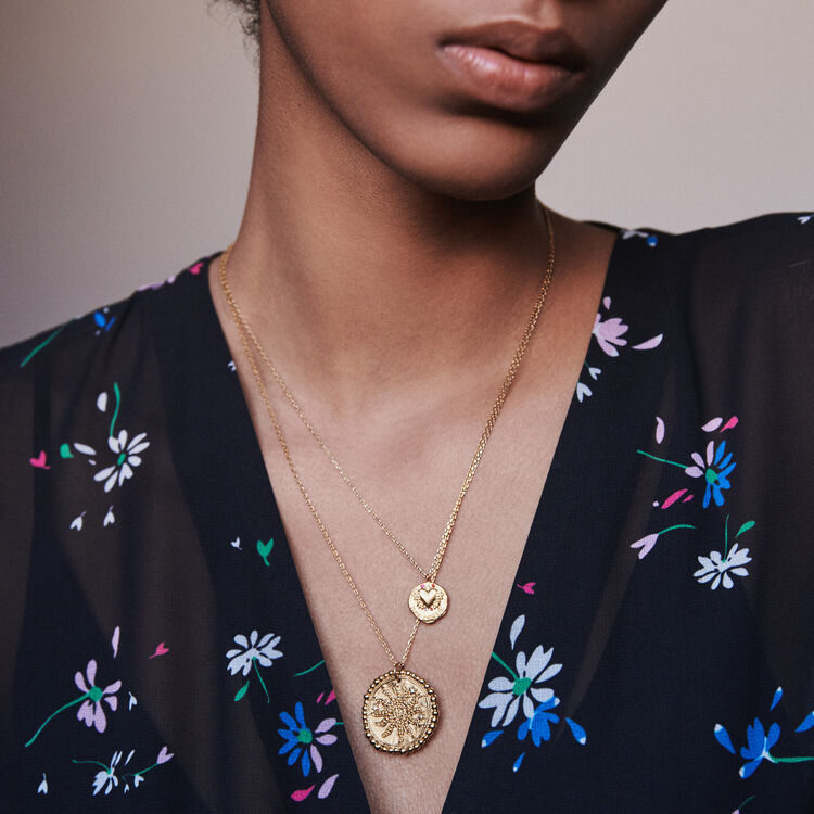 Aries zodiac sign necklace : Jewelry color Old Brass