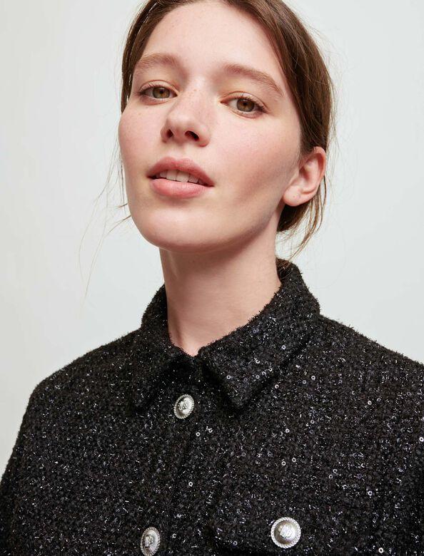 Short, straight shirt : Tops color Black