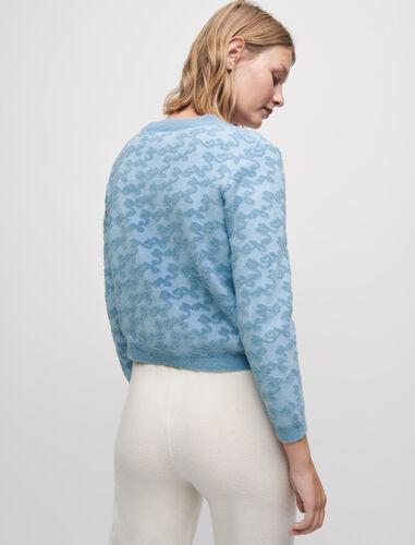 Maje jacquard cardigan : null color Blue Sky