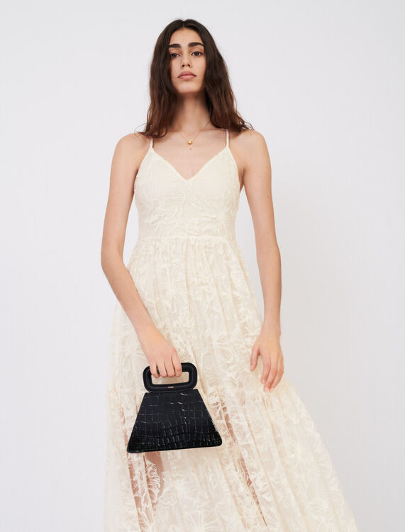 Strappy lace dress - Dresses - MAJE