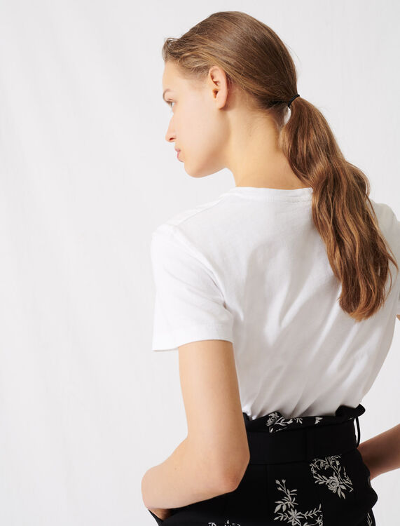 White screen-printed T-shirt : T-Shirts color White