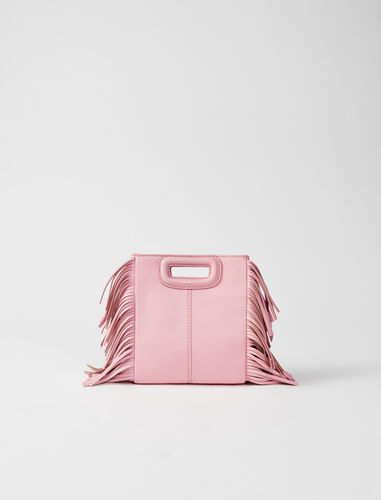 Leather mini M bag with chain : M Mini color Pink