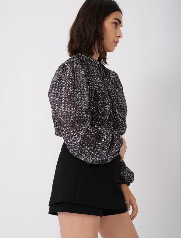 CREPE SKORT : Shorts color Black
