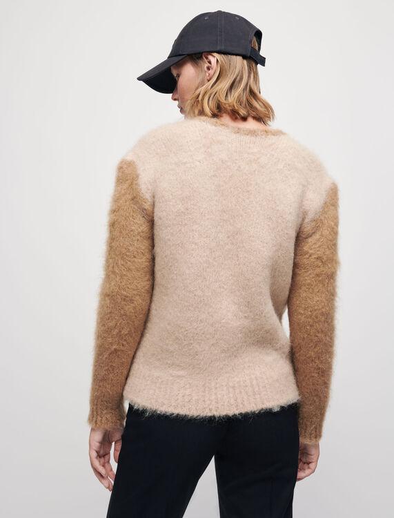 Brushed mohair cardigan - Sweaters & Cardigans - MAJE