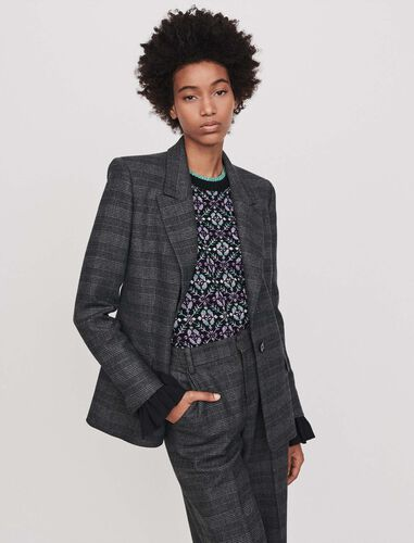 Prince of Wales jacket : Blazers color Grey