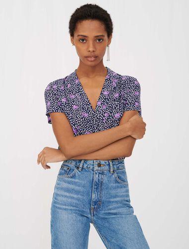 印花绉纱衬衫 : null 顏色 D006