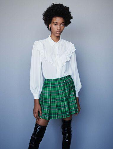Ruffled shirt : Shirts color White