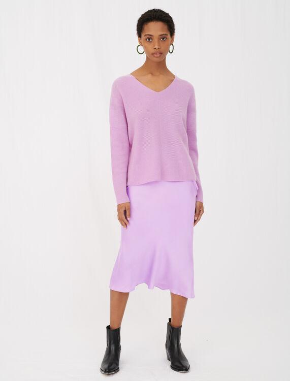 V-neck cashmere sweater - View All - MAJE