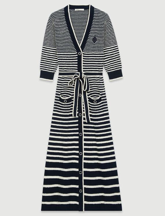 Long sailor-style cardigan - Cardigans - MAJE