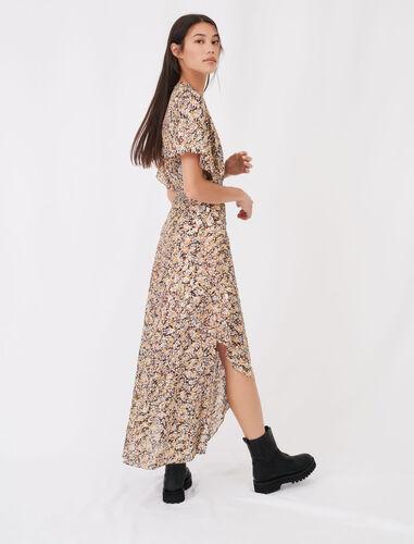 松紧腰不规则连衣裙 : 连衣裙 顏色 Q002